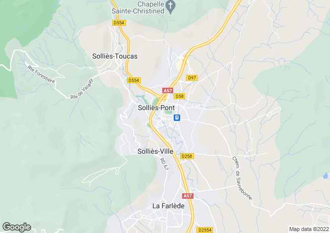 Map for Sollies-Pont, Var, 83210, France
