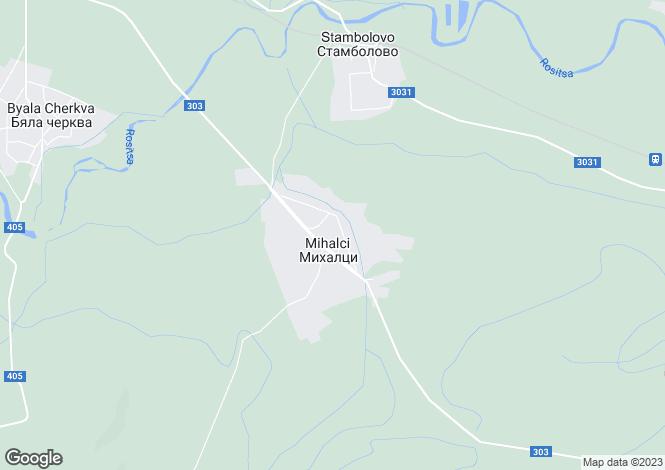 Map for Veliko Tarnovo, Mikhaltsi