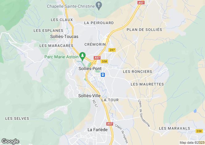 Map for Sollies Pont, Provence-Alpes-Cote D'azur, 83210, France