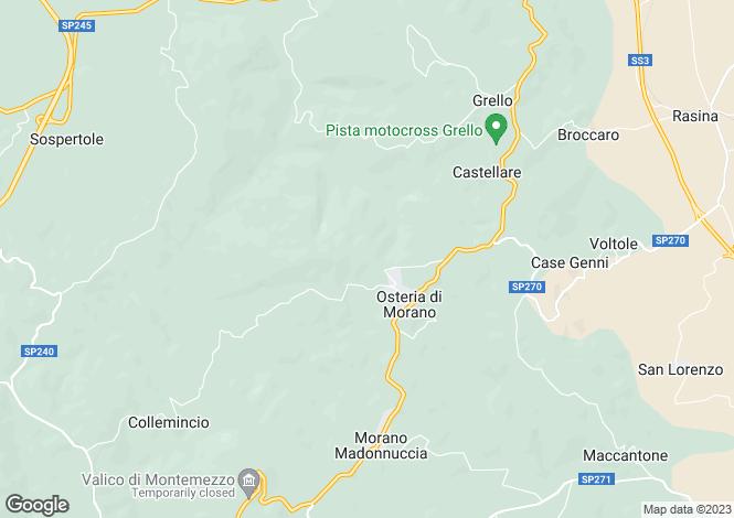 Map for Italy - Umbria, Perugia, Gualdo Tadino