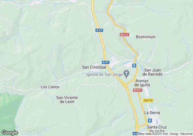 Map for Arenas de Iguña, Santander, Cantabria