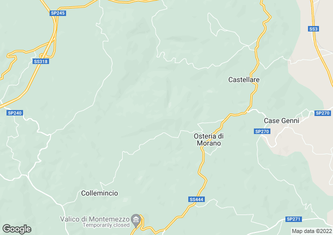 Map for Umbria, Perugia, Gualdo Tadino