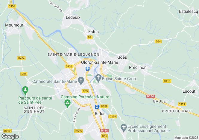 Map for Secteur: Oloron Sainte Marie, Pyrenees Atlantiques