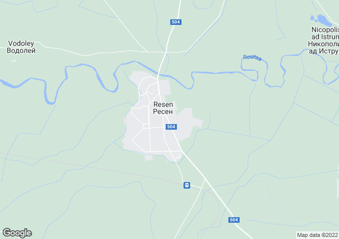 Map for Resen, Veliko Tarnovo