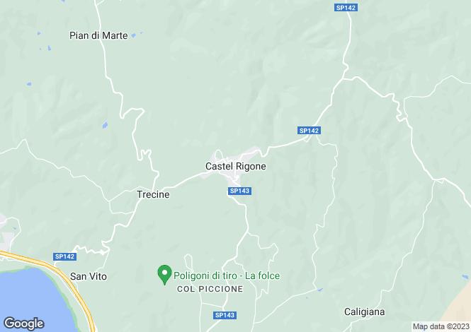 Map for Umbria, Perugia, Castel Rigone