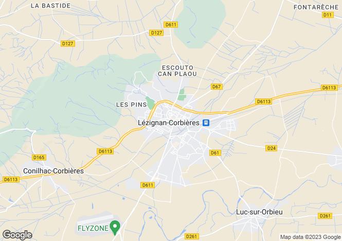 Map for Proche/Near Lezignan-Corbières, Aude