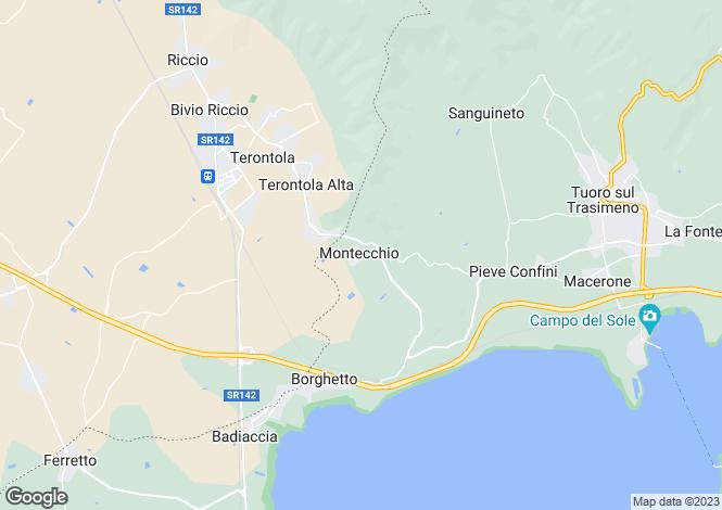 Map for Tuoro sul Trasimeno, Perugia, Umbria