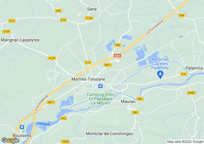Map for Martres-Tolosane, Midi-Pyrenees, 31220, France