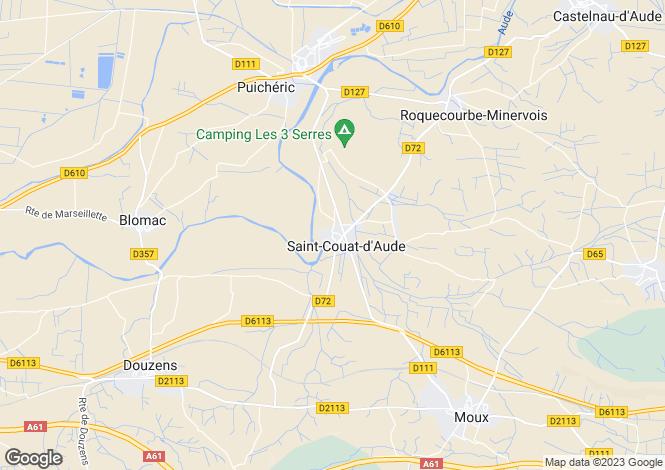 Map for st-couat-d-aude, Aude, France