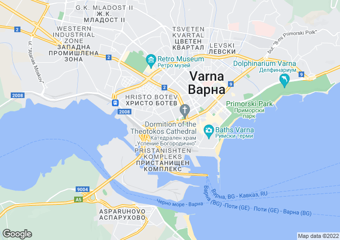 Map for Varna, Varna