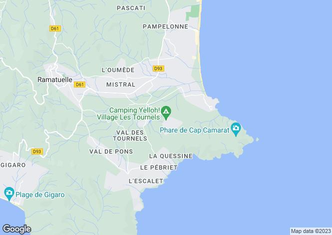 Map for Provence-Alps-Cote d`Azur, Var, Ramatuelle