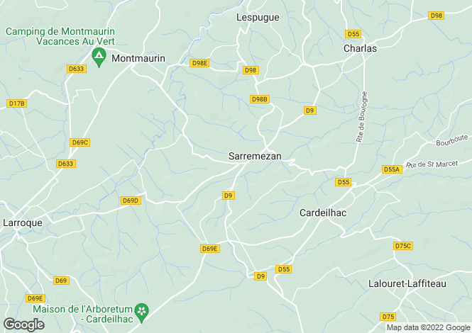 Map for Boulogne-Sur-Gesse, Midi-Pyrenees, 31350, France