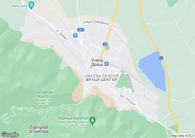 Map for Vratsa, Vratsa
