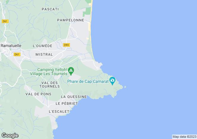 Map for 4 bedroom villa, St Tropez