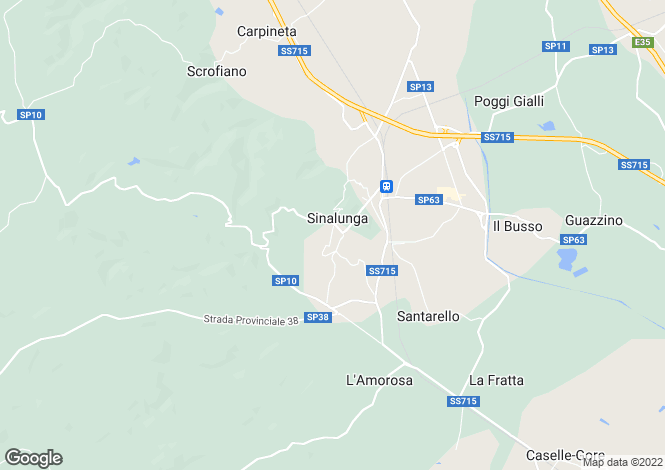 Map for Sinalunga, Siena, Tuscany