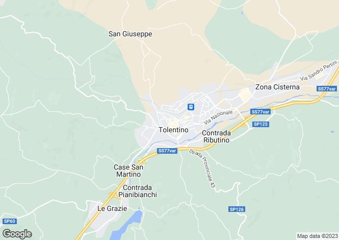 Map for Tolentino, Macerata, Le Marche