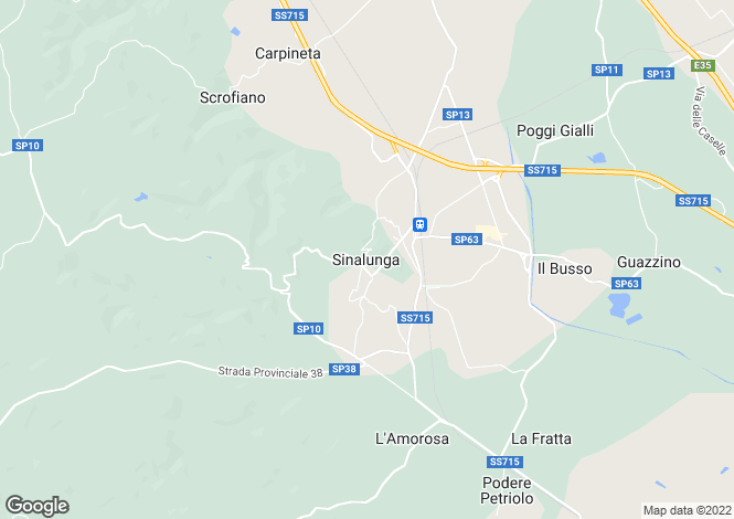 Map for Sinalunga, Tuscany, Italy