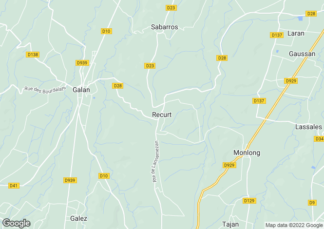 Map for Recurt, Midi-Pyrenees, 65330, France