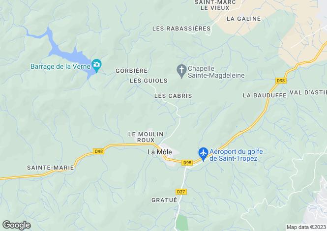 Map for la-mole, Var, France