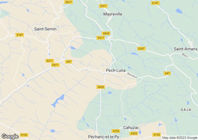 Map for Pech-Luna, Aude, Languedoc-Roussillon