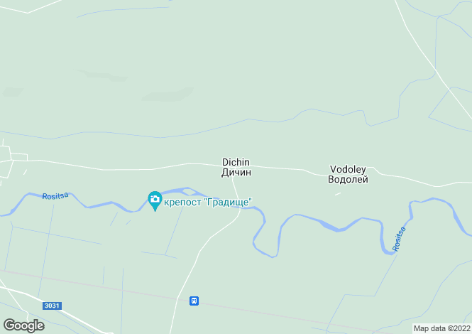 Map for Dichin, Veliko Tarnovo