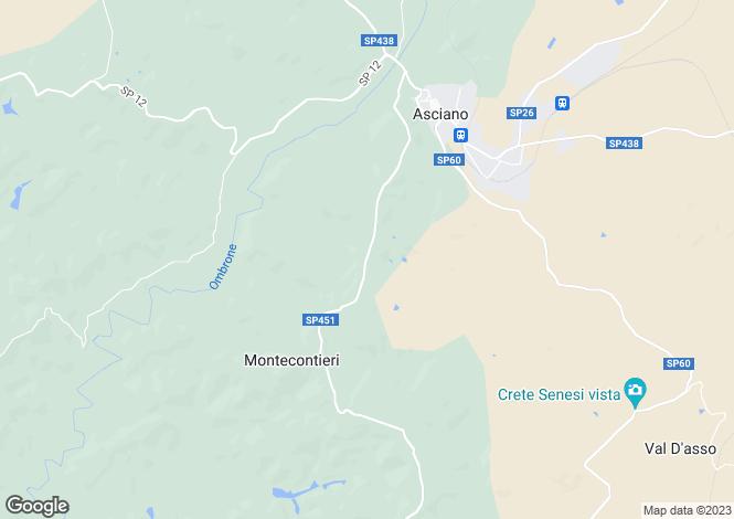 Map for Italy - Tuscany, Siena, Asciano