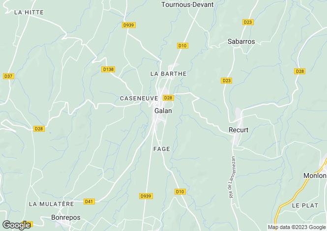 Map for Galan, Midi-Pyrenees, 65330, France