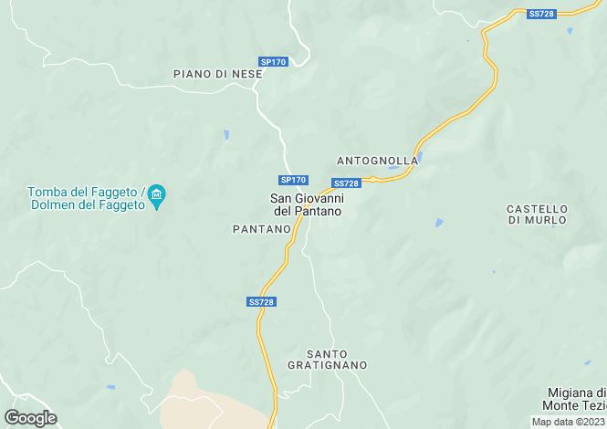 Map for San Giorgio, San Giovanni Del Pantano, Umbria, Italy