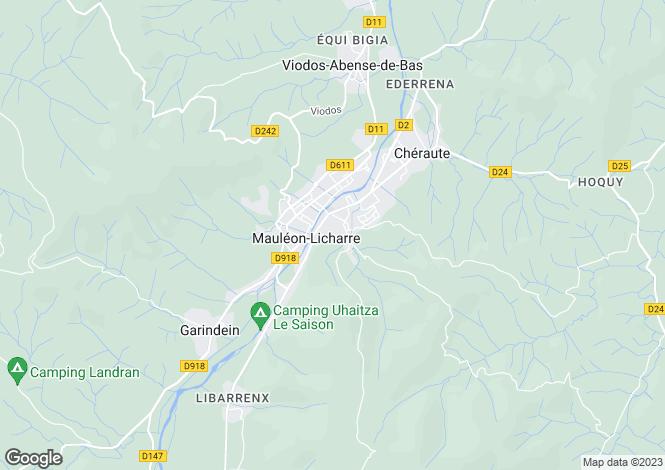 Map for Mauléon-Licharre, Pyrénées-Atlantiques, Aquitaine