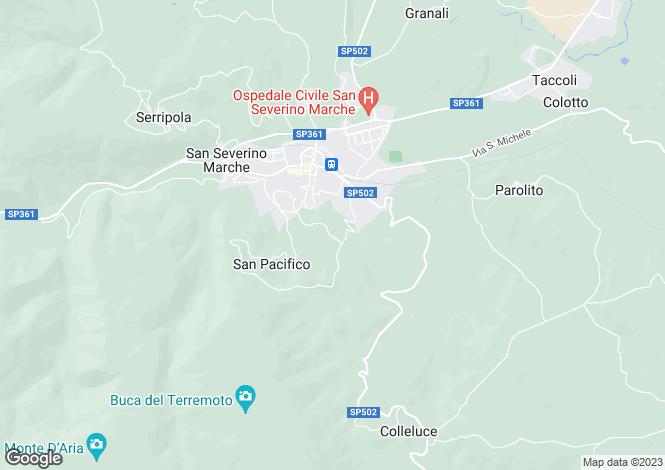 Map for San Severino Marche