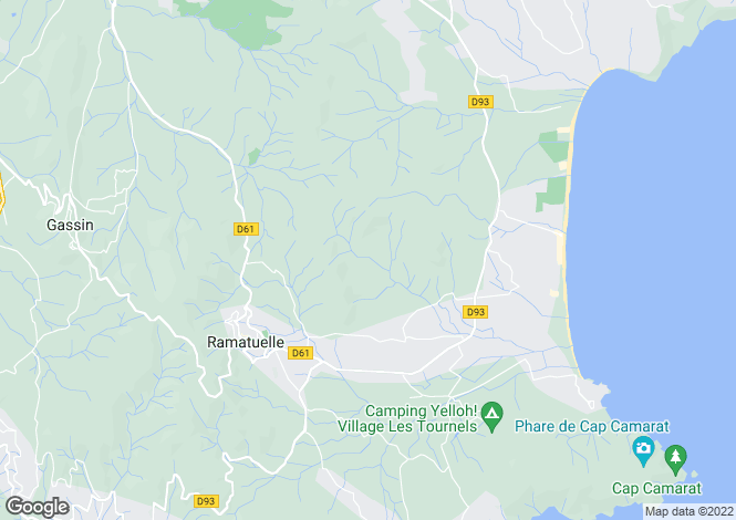 Map for Bonne Terrasse / Pampelonne, Ramatuelle, Var Coast, French Riviera