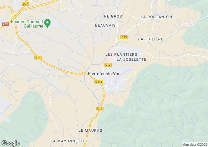 Map for Pierrefeu-Du-Var, Var, 83390, France