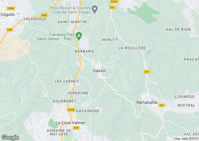 Map for Provence-Alps-Cote d`Azur, Var, Gassin