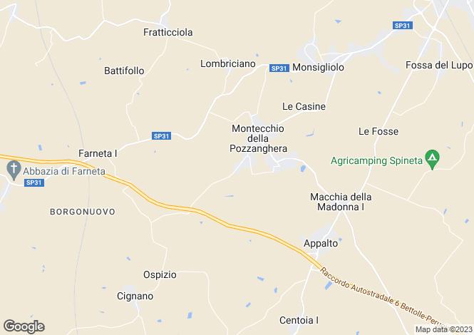 Map for Italy - Tuscany, Arezzo, Cortona