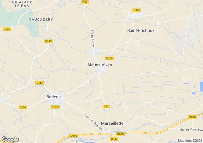 Map for Occitanie, Aude, Aigues Vives