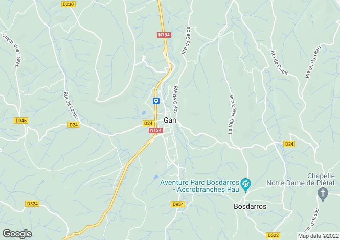 Map for Gan, Pyrenees Atlantiques, Aquitaine