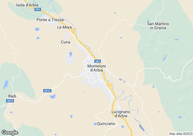 Map for Italy - Tuscany, Siena, Monteroni d`Arbia