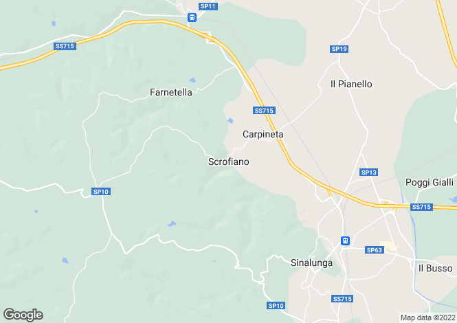 Map for Tuscany, Siena, Sinalunga