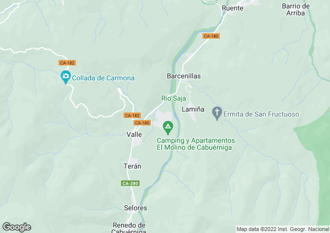 Map for Valle, Santander, Cantabria