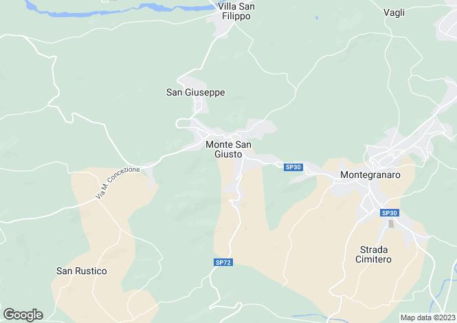 Map for Le Marche, Macerata, Monte San Giusto