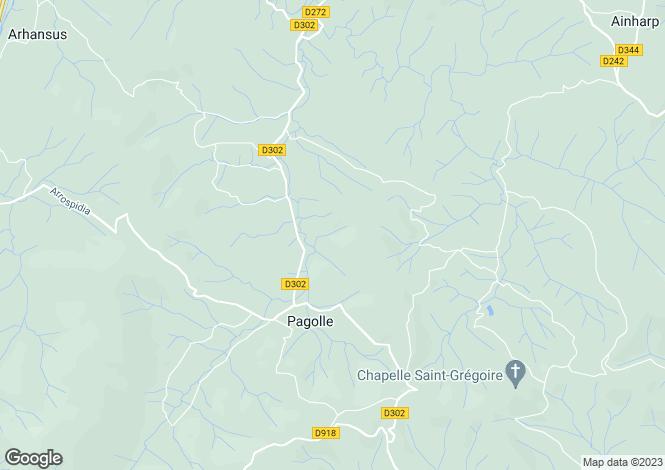 Map for Aquitaine, Pyrénées-Atlantiques, Pagolle