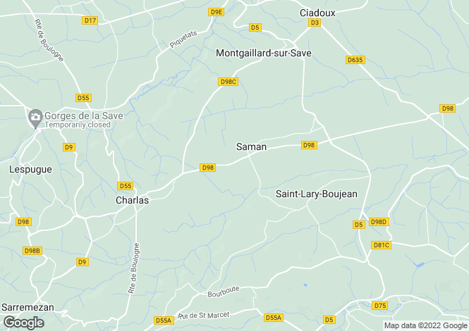 Map for Saman, Midi-Pyrenees, France