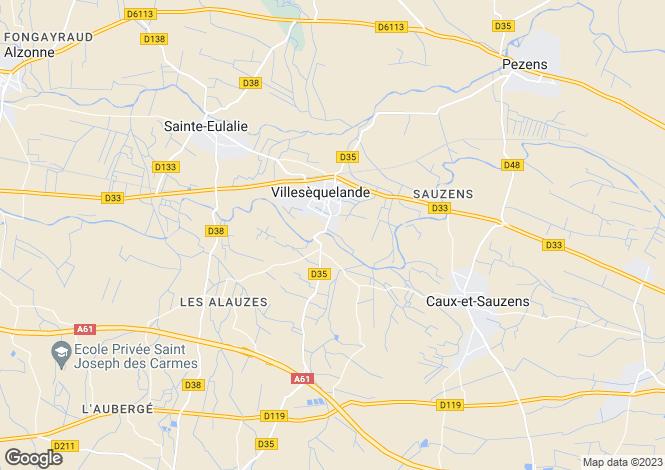 Map for Villesequelande, Aude, 11170, France