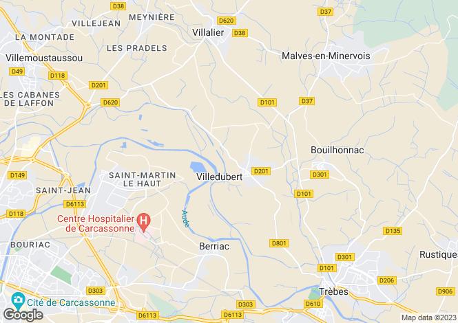 Map for villedubert, Aude, France