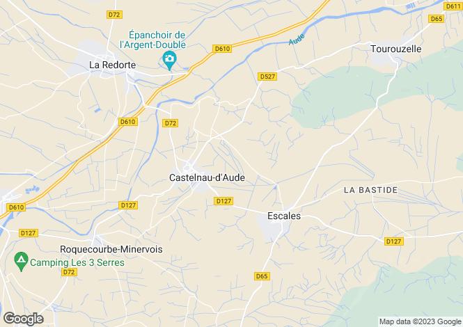 Map for castelnau-d-aude, Aude, France