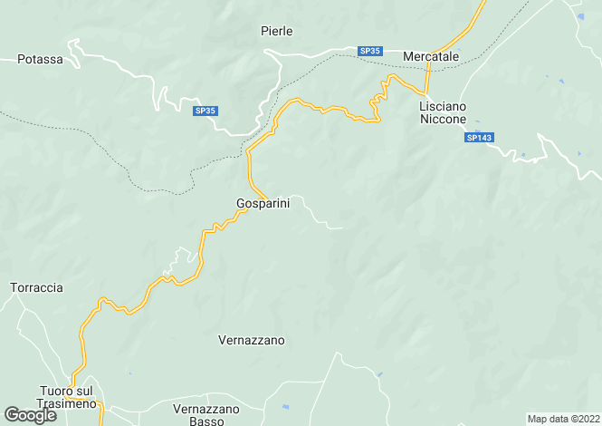 Map for Umbria, Perugia, Tuoro sul Trasimeno