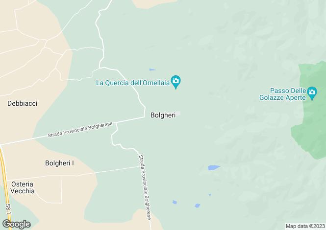 Map for Bolgheri, Tuscany, Italy