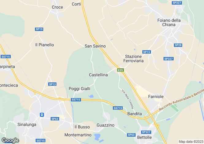 Map for Castellina, Siena, Tuscany