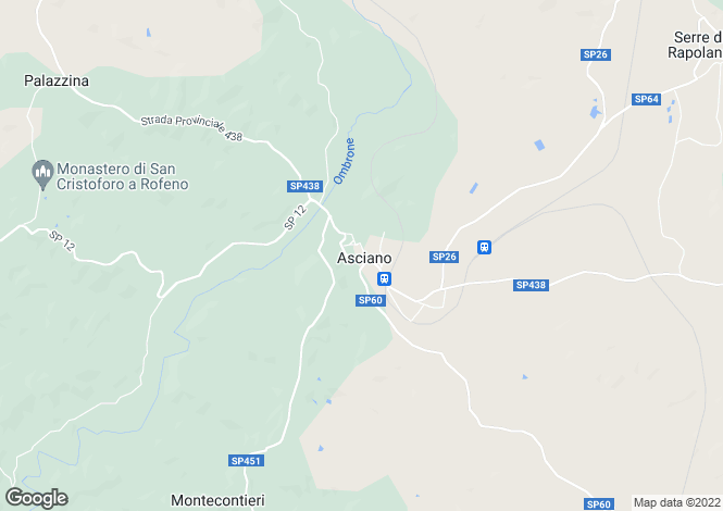 Map for Tuscany, Siena, Asciano