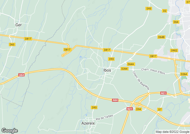 Map for ibos, Hautes-Pyrénées, France